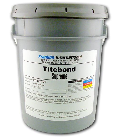 Franklin Titebond Supreme 5 Gallons #31287 Wood Glue