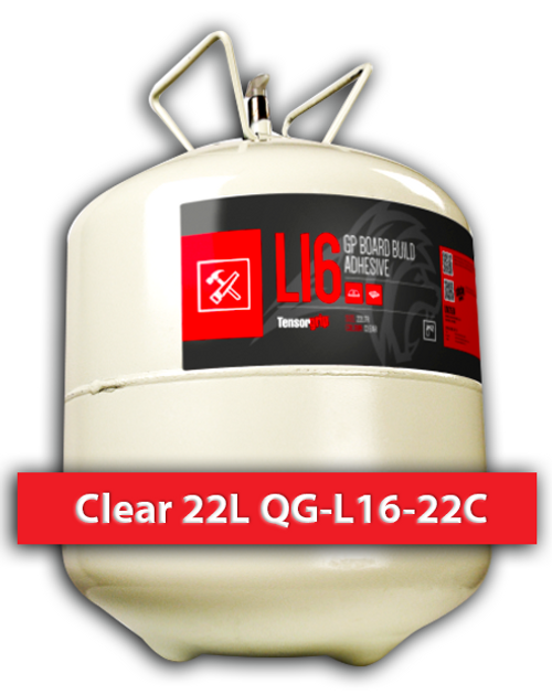 Flamable, High Solids, Fast Drying Contact Adhesive Clear 22 L QG-L16-22C Quin Global TensorGrip
