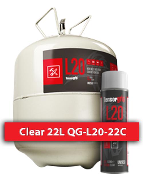 Flamable, High Temprature Contact Adhesive Clear 22 L QG-L20-22C Quin Global TensorGrip