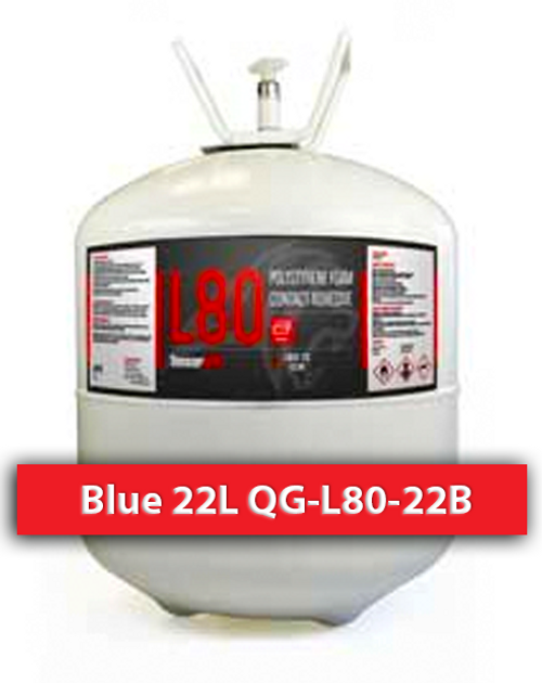 Polystyrene Safe Contact Adhesive Blue 22 L QG-L80-22B Quin Global TensorGrip
