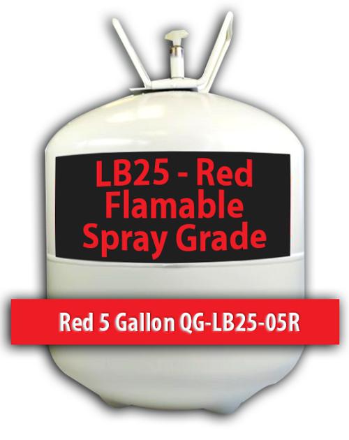Flamable Spray Grade Contact Adhesive Red 5 Gallons QG-LB25-05R Quin Global TensorGrip