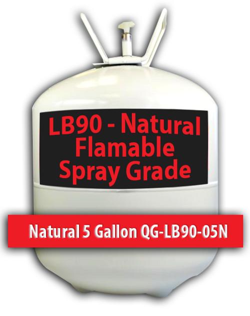 Flamable Spray Grade Contact Adhesive Natural 5 Gallons QG-LB90-05N Quin Global TensorGrip