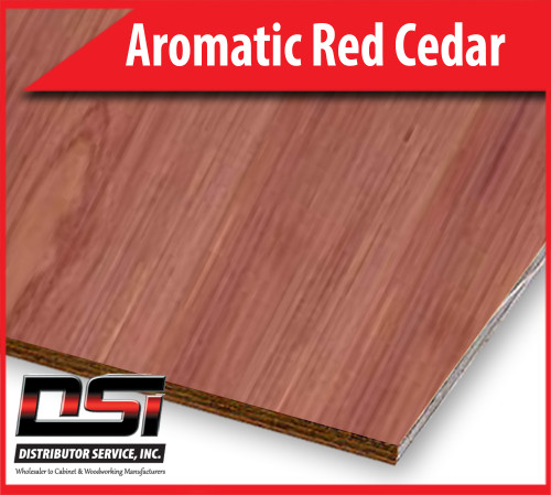 "Aromatic Red Cedar Domestic Plywood Plain Sliced VC A-4 1/4"" x 4x8"
