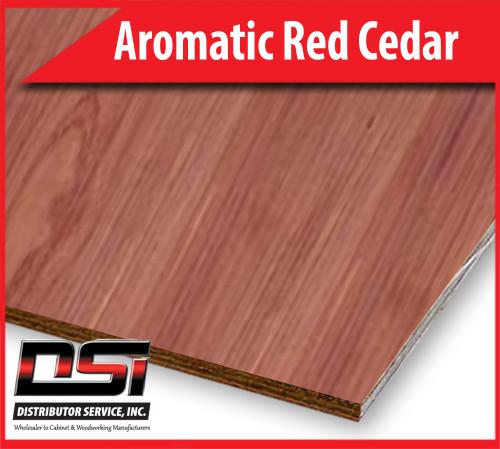 "Aromatic Red Cedar Domestic Plywood Plain Sliced VC A-4 5/32"" x 4x8 TP"