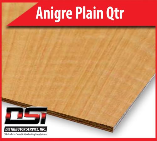 "Anigre Plain Qtr Plywood Eurocore A-3 1/2"" x 4x8"