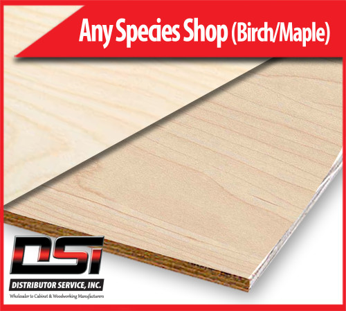 "Any Species VC Shop Grade (Birch/Maple) 1"" x 4x8 CFP"