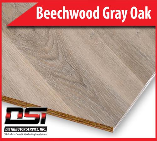 "Beechwood Gray Oak Qtr Plywood Eurocore A-3 1/2"" x 4x8"