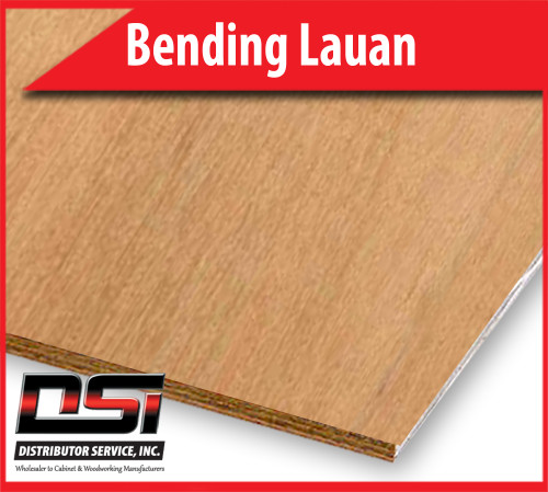 "Bending Lauan Plywood Short Grain 1/4"" x 8x4"
