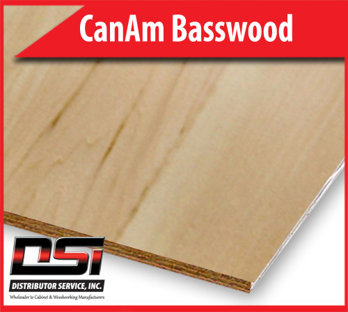 "CanAm Basswood Plywood Veneer Core D-3 3/4"" x 4x8"