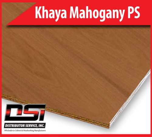 "Khaya Mahogany Plywood Plain Sliced VC A4 1/4"" x 4x8"