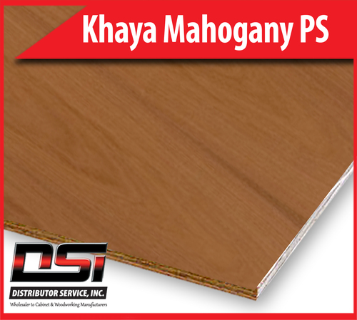 """Khaya Mahogany Plywood Plain Sliced MDF A1 3/4"""" x 4x8"""