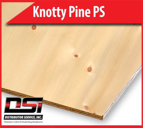 "Knotty Pine Plywood Plain Sliced VC A4 1/4"" x 4x8"