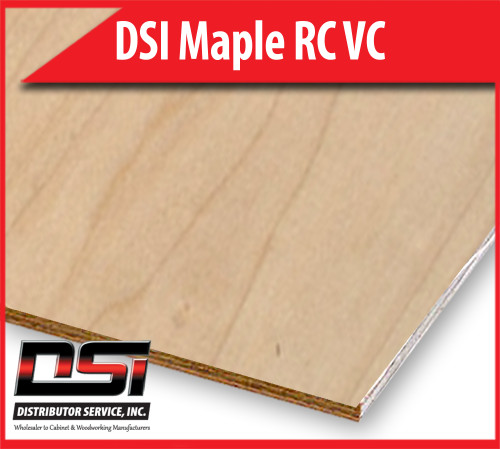 "DSI Maple Plywood Rotary Cut Veneer Core 1/2"" x 4x8"