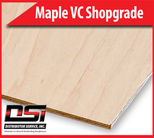 "Maple Plywood Veneer Core Shop Grade UV2S 1/2"" x 4x8"