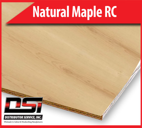 """Natural Maple Plywood Rotary Cut WPF EuroCore A3 Maple Back 1/4"""" x 4x8"""