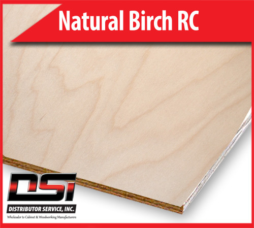 "Natural Birch Plywood Rotary Cut MDF B2 1/4"" x 4x8"