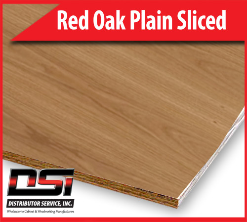 """Red Oak Plywood Plain Sliced MDF A4 1/2"""" x 4x8"""