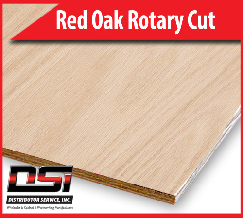"""Red Oak Plywood Rotary Cut VC Cabinet Grade 1/4"""" x 4x9"""