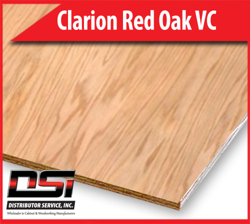 "Clarion Red Oak Plywood Veneer Core R/C WPF G2S 3/4"" x 4x8"