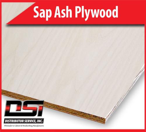 """Sap Ash Plywood Plain Sliced MDF A1 3/4"""" x 4x8 FM"""
