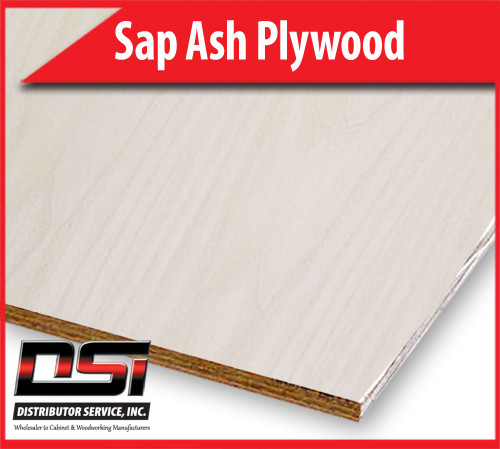 "Sap Ash Plywood Plain Sliced VC A1 3/4"" x 4x8 CFP"