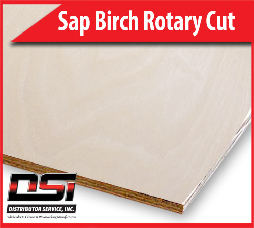 "Sap Birch Plywood Rotary Cut MDF A1 Whole PC Face 3/4"" x 4x8"