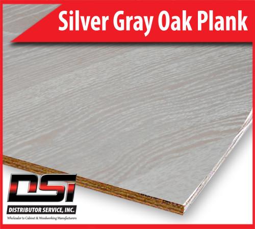 "Silver Gray Oak Plank Plywood Veneer Core VC A-3 1/4"" x 4x8"