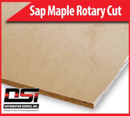 "Sap Maple Plywood Rotary Cut VC C1 UV2 1/2"" x 4x8"