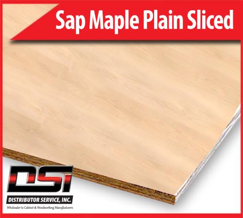 "Sap Maple Plywood Plain Sliced MDF A1 Slip Match TSO 3/4"" x 4x8"