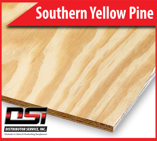 "Southern Yellow Pine Plywood Plain Sliced Classic Core B3 3/4"" x 4x10"