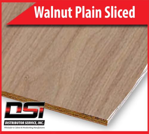"Walnut Plywood Plain Sliced MDF AA 3/4"" x 4x8"