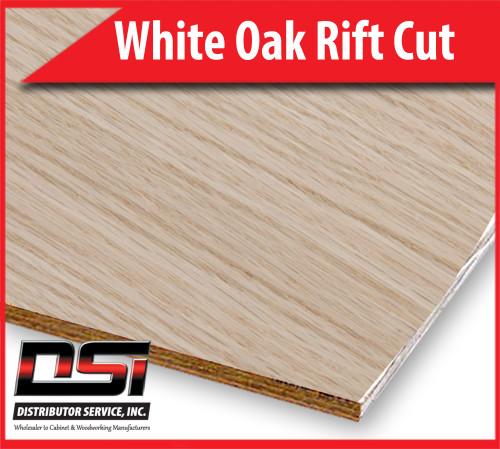 "White Oak Plywood Rift Cut VC A1 Rift Back 3/4"" x 4x8"