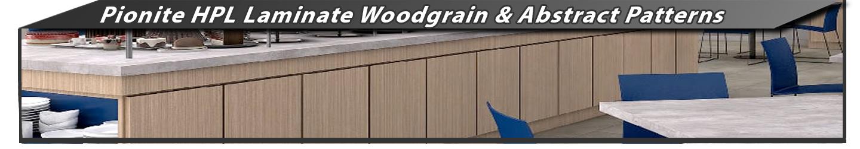 Pionite HPL Woodgrain & Abstract Laminate Sheets