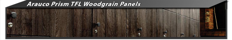 Arauco Prism TFL Woodgrain Panels Melamine
