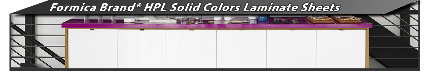 Formica Brand® HPL Solid Colors Laminate Sheets