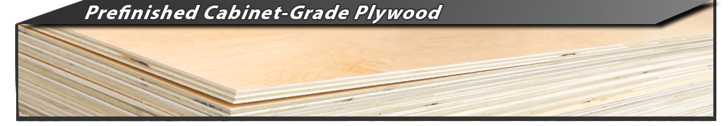 Prefinished Cabinet Grade Plywood