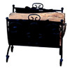 Uniflame Heavy Weight Black Wrought Iron Log Holder