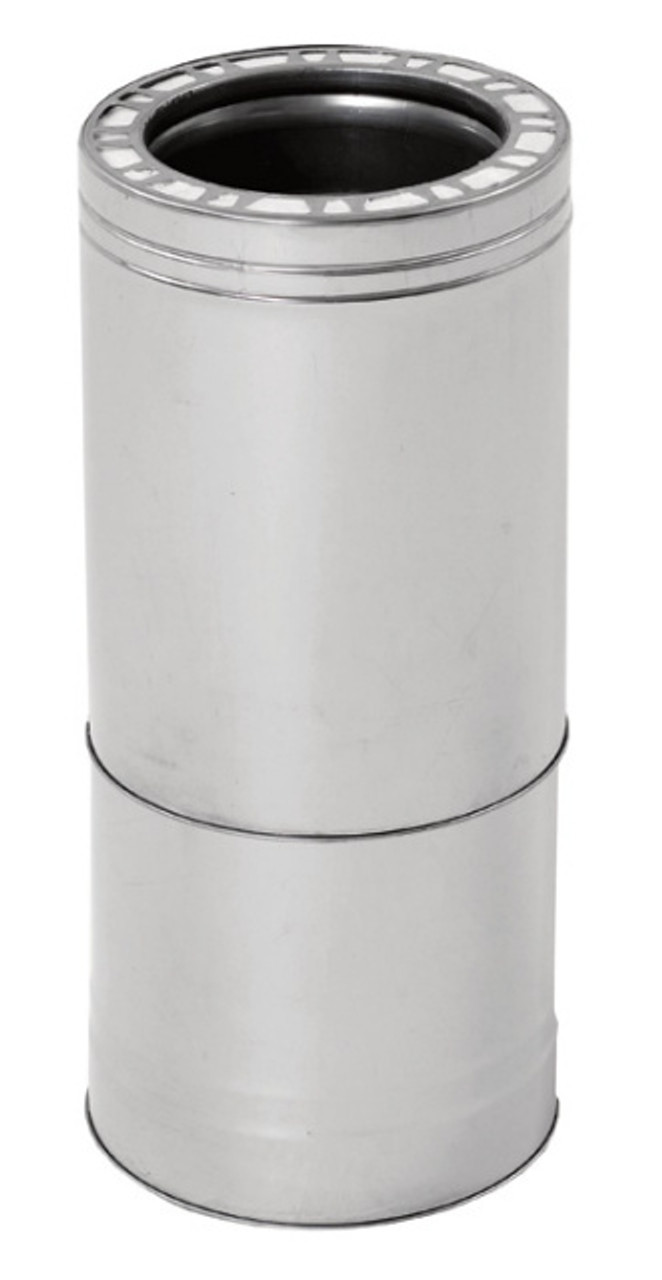 """Class-A Chimney Telescoping Pipe by Ventis 304L Stainless Steel - 14"""" - 22"""" length"""