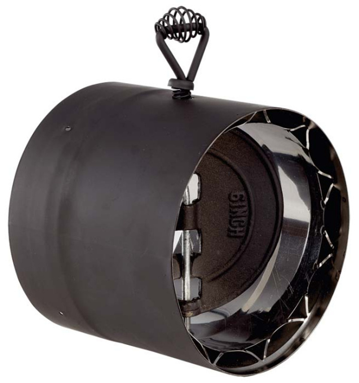 Ventis Double Wall Black Stove Pipe Damper Section