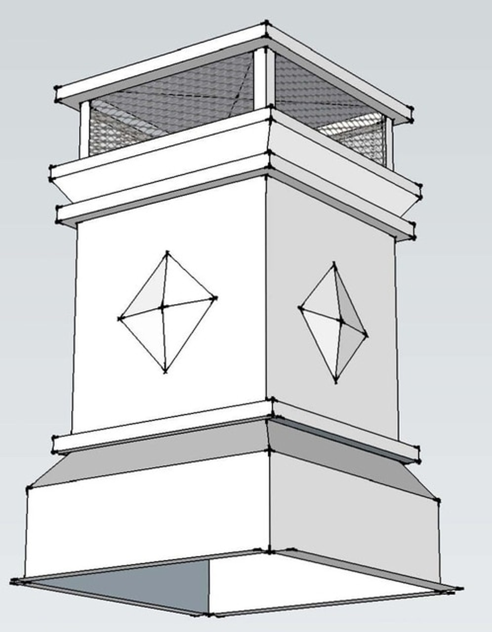 Elegance Kynar Colored Metal Chimney Pot with Metal Chimney Adaptor for 12DM pipe from IHP