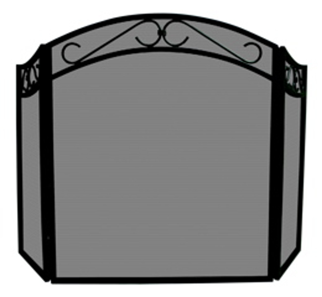 Prime Uniflame Black Wrought Iron Fireplace Screen 31 H X 51 5 W Download Free Architecture Designs Photstoregrimeyleaguecom