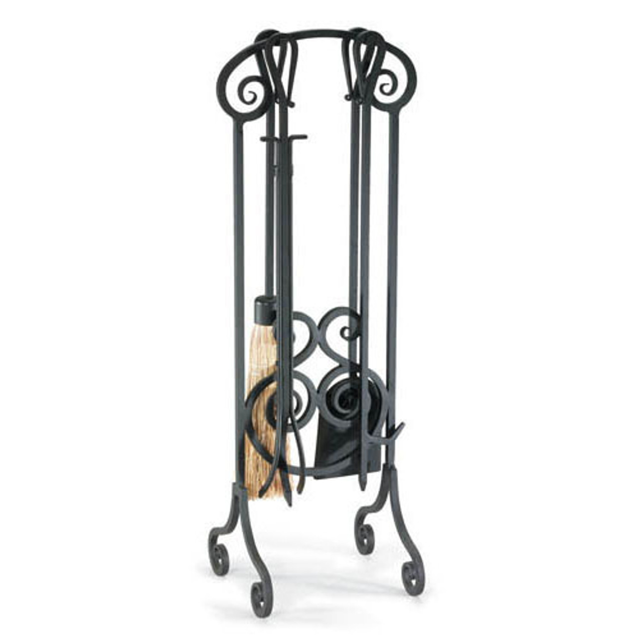 """Napa Forge Antique Scroll Fireplace Tool Set - Brushed Pewter - 33"""" H"""