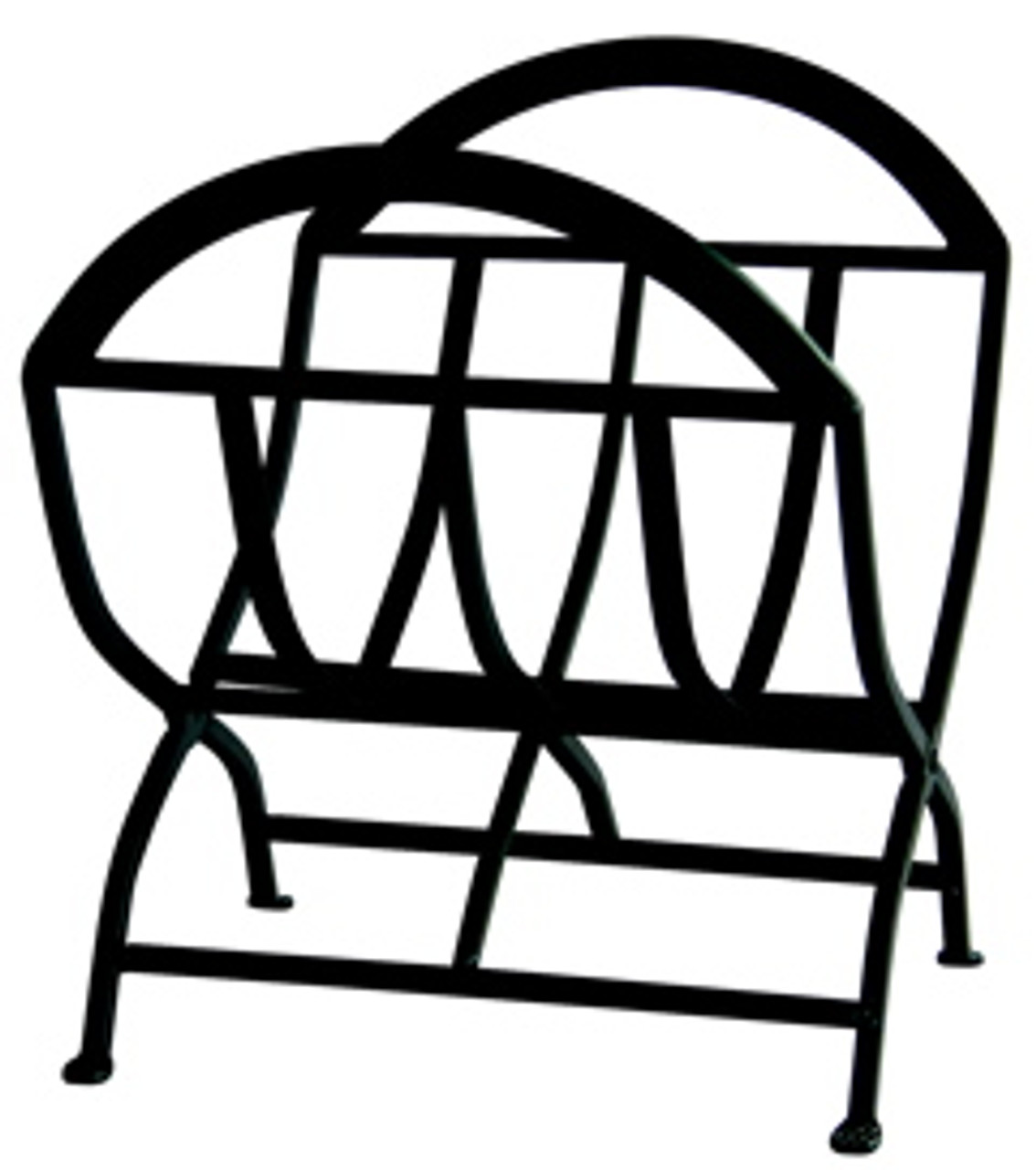 Black Wrought Iron Log Rack by Uniflame