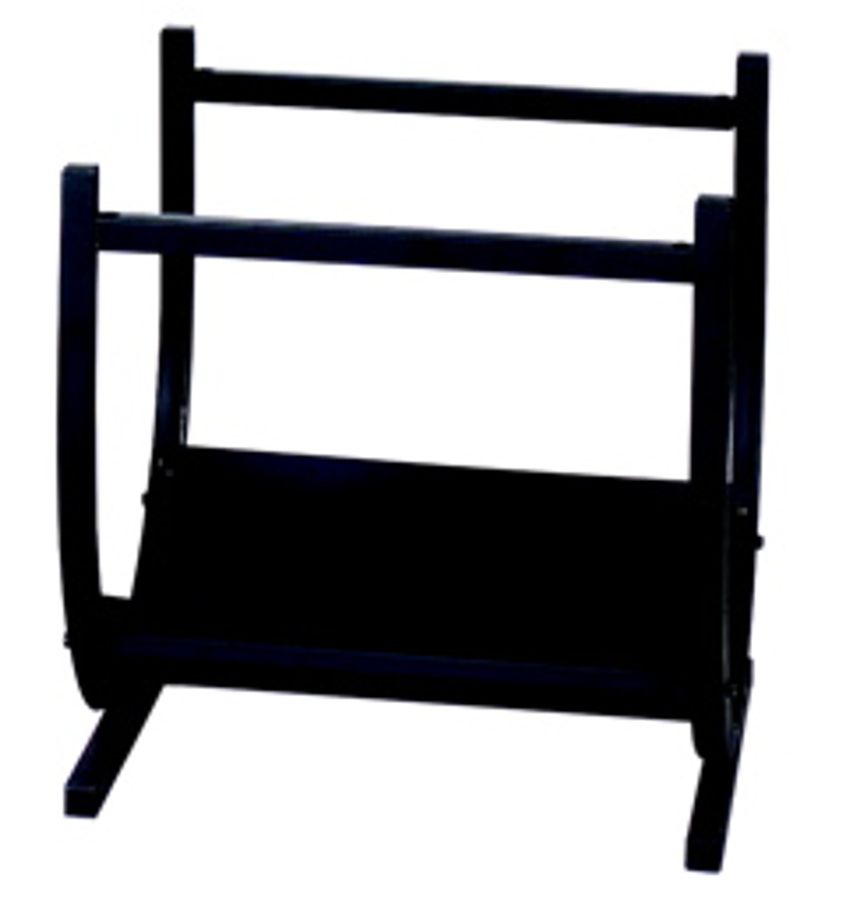 """Black Wrought Iron Log Rack by Uniflame 14"""" high x 17"""" wide"""