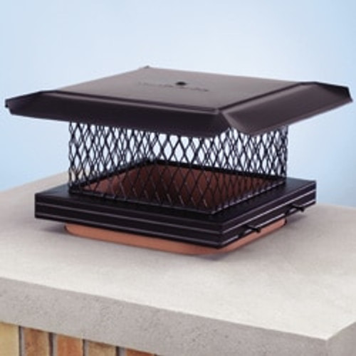 Galvanized single flue chimney cap