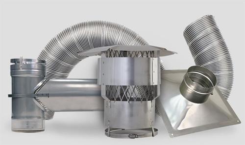"Forever Flex 316Ti Stainless Steel Premium Liner Tee Kit - 6"""