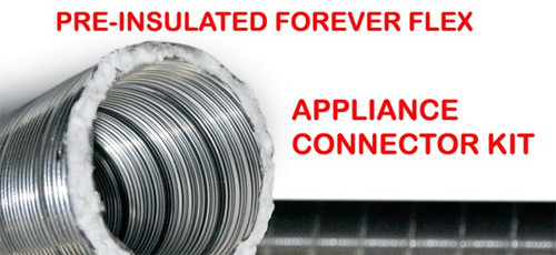 Forever Flex Preinsulated Flexible Chimney Liner Appliance Connector Kit - 6""