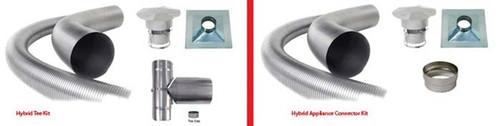 """Forever Flex Hybrid 304L Stainless Steel Applance Connector Chimney Liner Kit - 4"""" diameter"""
