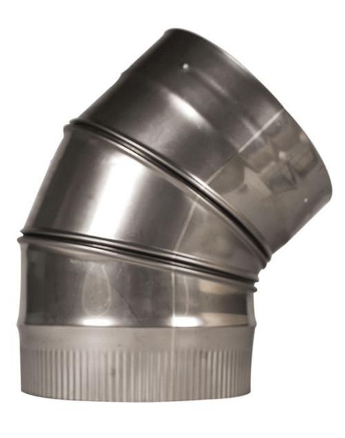 Rhino Rigid Chimney Liner 316L Stainless Elbow