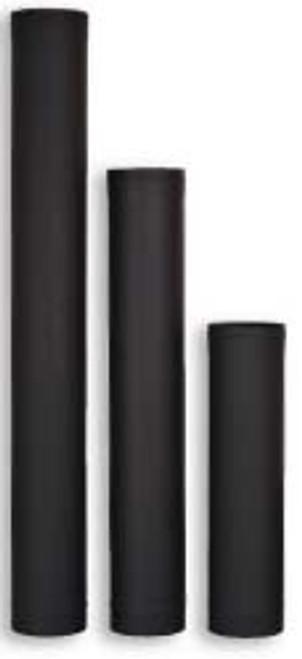 Ventis Black Single Wall Stove Pipe